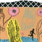 "Jamie Hogan illustration for Maine Magazine's Wellness column, ""Happy Feet"""