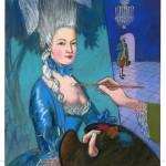 "Jamie Hogan's illustration for Portland Stage's ""Marie Antoinette: The Color of Flesh"""