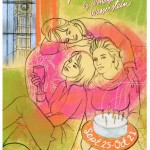 """Jamie Hogan illustration for Portland Stage's """"The Sisters Rosensweig"""""""